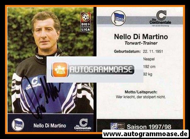 Autogramm Fussball   Hertha BSC Berlin   1997   Nello DI MARTINO