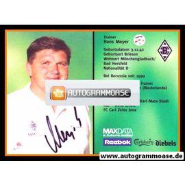 Autogramm Fussball | Borussia Mönchengladbach | 2001 | Hans MEYER