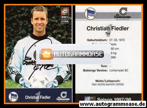 Autogramm Fussball   Hertha BSC Berlin   1997   Christian FIEDLER