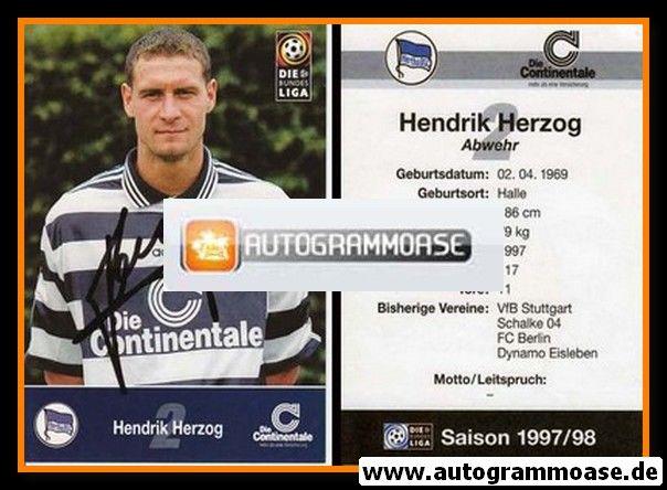 Autogramm Fussball | Hertha BSC Berlin | 1997 | Hendrik HERZOG