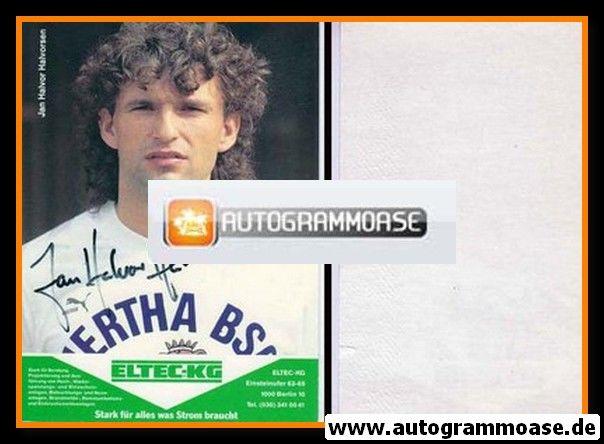 Autogramm Fussball   Hertha BSC Berlin   1989   Jan Halvor HALVORSEN