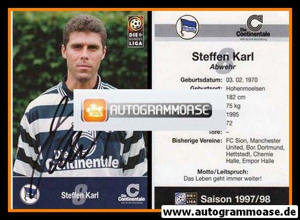 Autogramm Fussball | Hertha BSC Berlin | 1997 | Steffen KARL