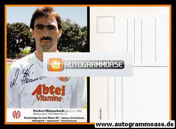Autogramm Fussball | FSV Mainz 05 | 1988 | Norbert HÖNNSCHEIDT
