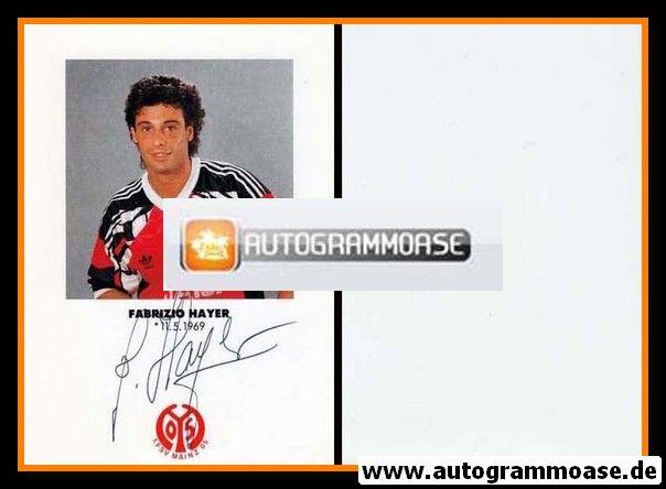 Autogramm Fussball   FSV Mainz 05   1991   Fabrizio HAYER