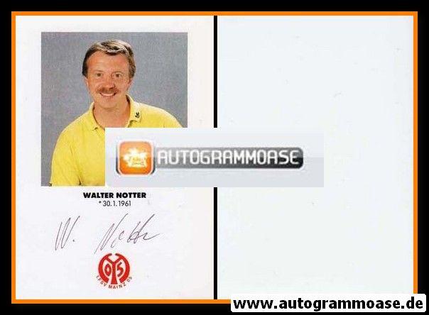 Autogramm Fussball | FSV Mainz 05 | 1991 | Walter NOTTER