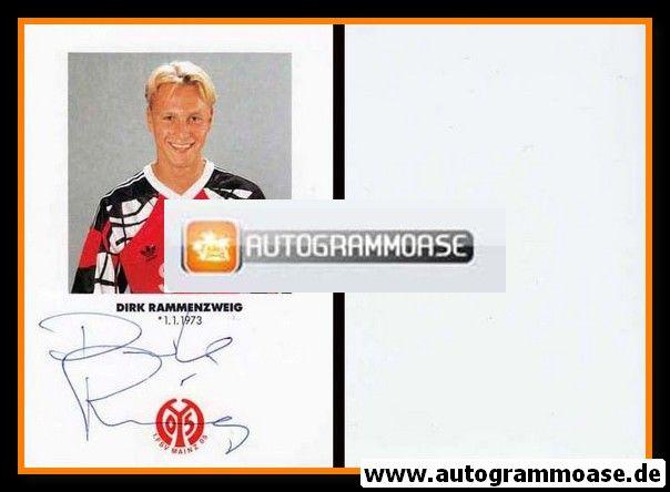 Autogramm Fussball | FSV Mainz 05 | 1991 | Dirk RAMMENZWEIG