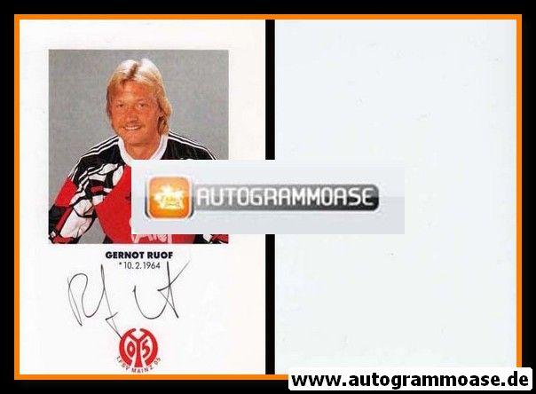 Autogramm Fussball   FSV Mainz 05   1991   Gernot RUOF