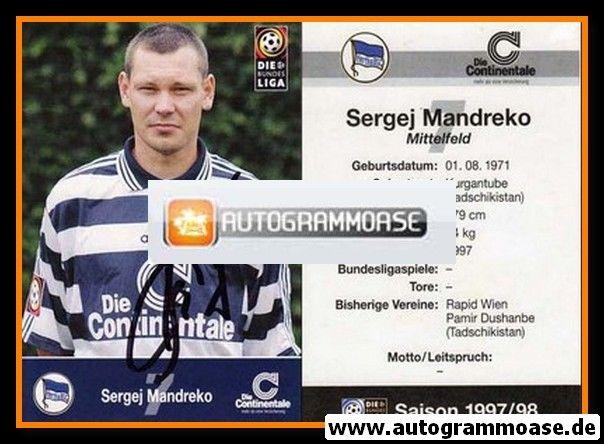 Autogramm Fussball   Hertha BSC Berlin   1997   Sergej MANDREKO