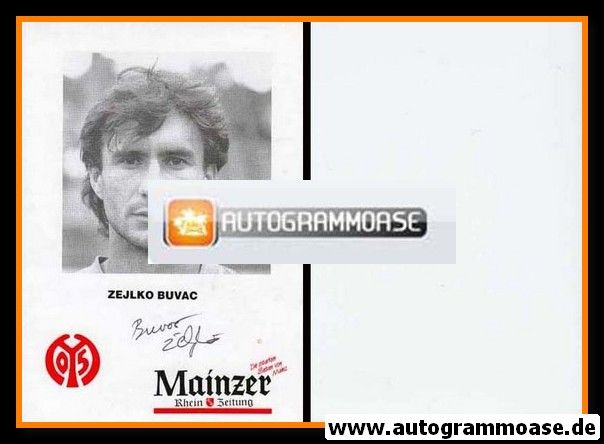 Autogramm Fussball | FSV Mainz 05 | 1992 | Zeljko BUVAC