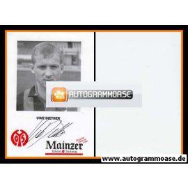 Autogramm Fussball | FSV Mainz 05 | 1992 | Uwe DIETHER
