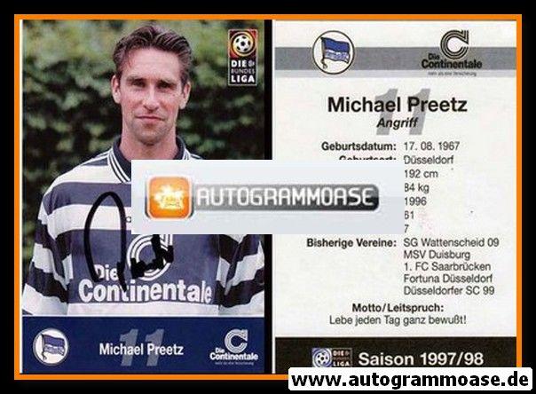 Autogramm Fussball | Hertha BSC Berlin | 1997 | Michael PREETZ