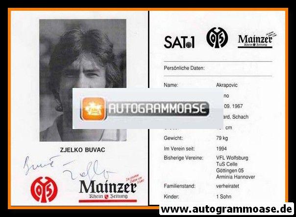 Autogramm Fussball   FSV Mainz 05   1994   Zeljko BUVAC