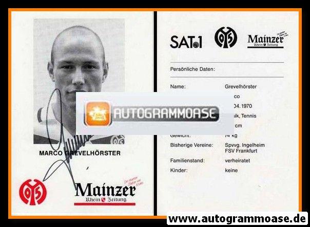 Autogramm Fussball | FSV Mainz 05 | 1995 | Marco GREVELHÖRSTER