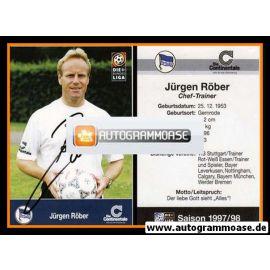 Autogramm Fussball | Hertha BSC Berlin | 1997 | Jürgen RÖBER