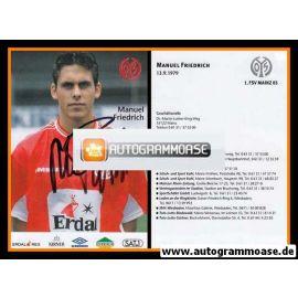 Autogramm Fussball   FSV Mainz 05   1999   Manuel FRIEDRICH