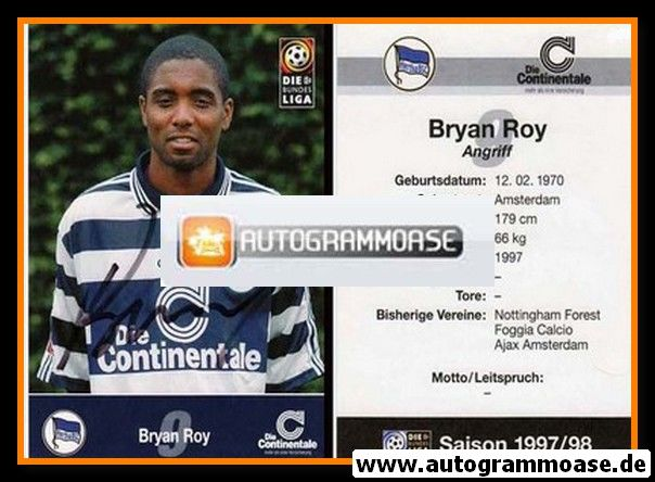 Autogramm Fussball | Hertha BSC Berlin | 1997 | Brian ROY