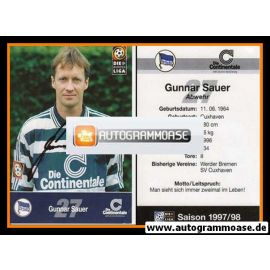 Autogramm Fussball | Hertha BSC Berlin | 1997 | Gunnar SAUER