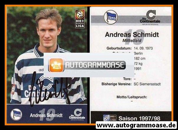 Autogramm Fussball   Hertha BSC Berlin   1997   Andreas SCHMIDT