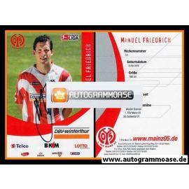 Autogramm Fussball | FSV Mainz 05 | 2006 | Manuel FRIEDRICH