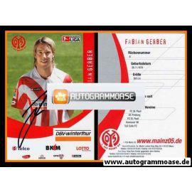Autogramm Fussball | FSV Mainz 05 | 2006 | Fabian GERBER