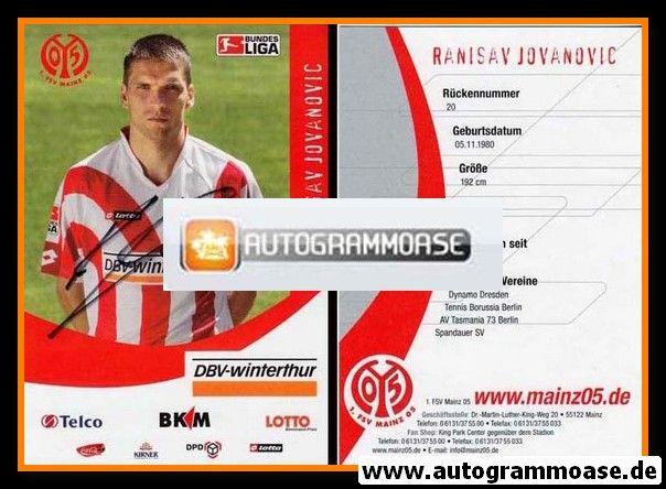 Autogramm Fussball | FSV Mainz 05 | 2006 | Ranisav JOVANOVIC