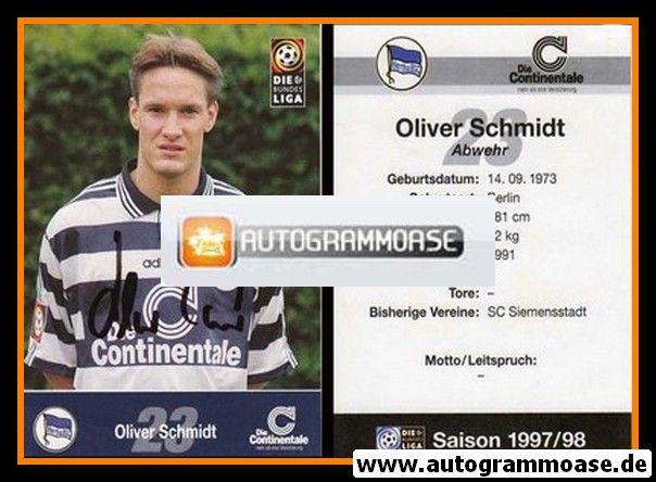 Autogramm Fussball | Hertha BSC Berlin | 1997 | Oliver SCHMIDT