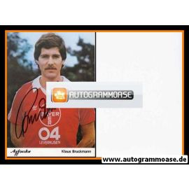 Autogramm Fussball | Bayer Leverkusen | 1981 | Klaus BRUCKMANN