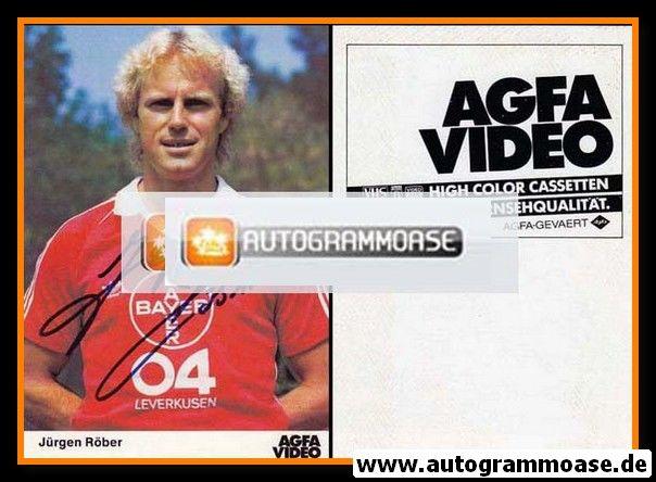 Autogramm Fussball | Bayer Leverkusen | 1982 | Jürgen RÖBER