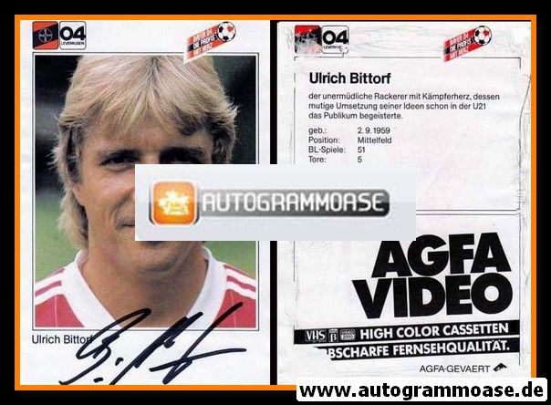 Autogramm Fussball | Bayer Leverkusen | 1983 | Ulrich BITTORF