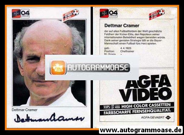 Autogramm Fussball | Bayer Leverkusen | 1983 | Dettmar CRAMER