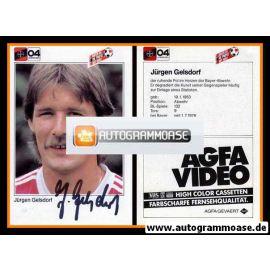 Autogramm Fussball | Bayer Leverkusen | 1983 | Jürgen GELSDORF