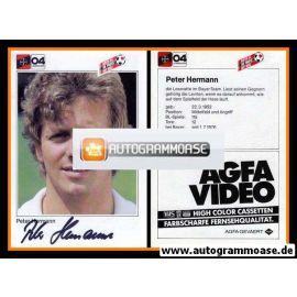 Autogramm Fussball | Bayer Leverkusen | 1983 | Peter HERMANN