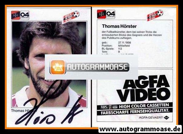 Autogramm Fussball | Bayer Leverkusen | 1983 | Thomas HÖRSTER