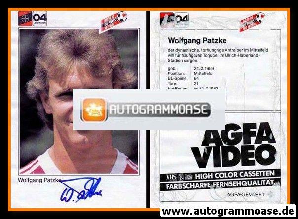 Autogramm Fussball | Bayer Leverkusen | 1983 | Wolfgang PATZKE