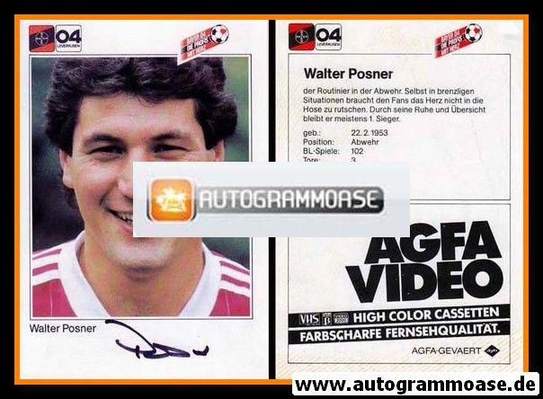 Autogramm Fussball | Bayer Leverkusen | 1984 | Walter POSNER