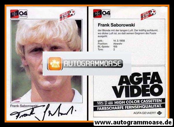 Autogramm Fussball   Bayer Leverkusen   1983   Frank SABOROWSKI