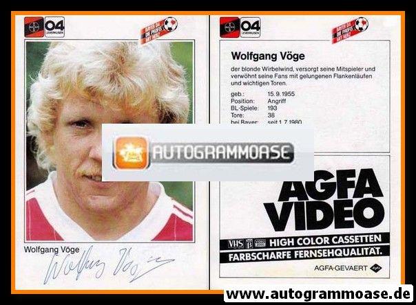 Autogramm Fussball | Bayer Leverkusen | 1983 | Wolfgang VÖGE