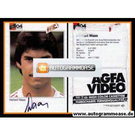 Autogramm Fussball   Bayer Leverkusen   1983   Herbert WAAS