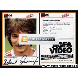 Autogramm Fussball   Bayer Leverkusen   1983   Helmut WINKLHOFER