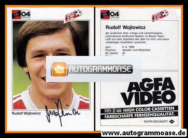 Autogramm Fussball | Bayer Leverkusen | 1983 | Rudolf WOJTOWICZ