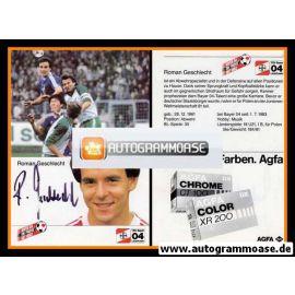 Autogramm Fussball   Bayer Leverkusen   1984   Roman GESCHLECHT (1)