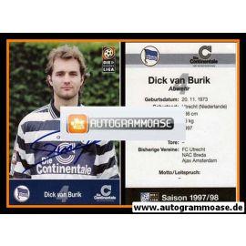 Autogramm Fussball | Hertha BSC Berlin | 1997 | Dick VAN BURIK