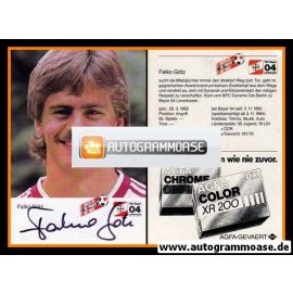Autogramm Fussball   Bayer Leverkusen   1984   Falko GÖTZ (Portrait)