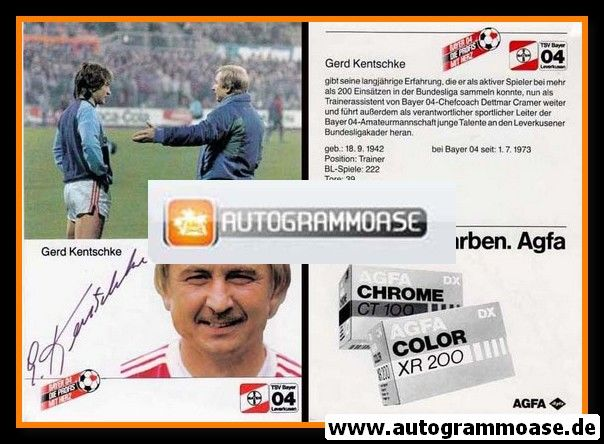 Autogramm Fussball | Bayer Leverkusen | 1984 | Gerd KENTSCHKE (Spielszene)
