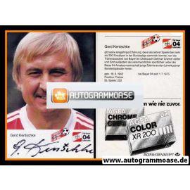 Autogramm Fussball | Bayer Leverkusen | 1984 | Gerd KENTSCHKE (Portrait)