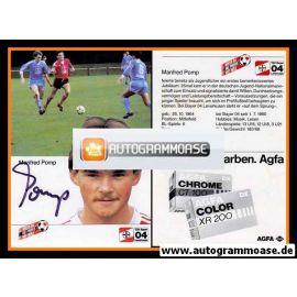 Autogramm Fussball | Bayer Leverkusen | 1984 | Manfred POMP