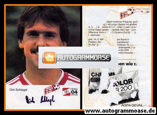 Autogramm Fussball | Bayer Leverkusen | 1984 | Dirk SCHLEGEL (Portrait)