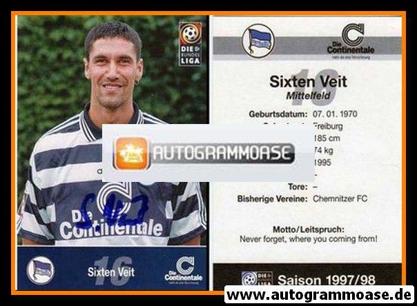 Autogramm Fussball | Hertha BSC Berlin | 1997 | Sixten VEIT