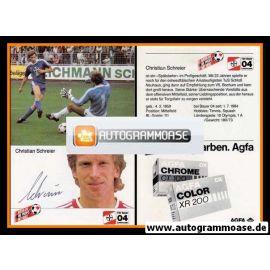 Autogramm Fussball | Bayer Leverkusen | 1984 | Christian SCHREIER