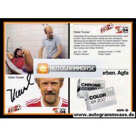 Autogramm Fussball | Bayer Leverkusen | 1984 | Dieter TRZOLEK